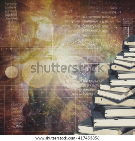 Abstract education and science backgrounds for your design - stock photo