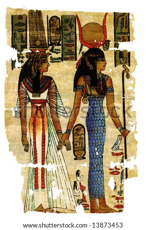 Abstract egyptian paintings - stock photo