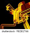 abstract electro - stock photo