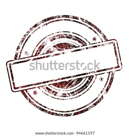 Abstract empty grunge rubber stamp with space for text, illustration
