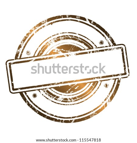 Abstract empty grunge rubber stamp with space for text, illustration Gold style