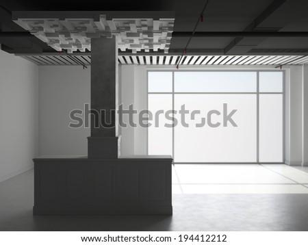 Abstract empty interior - stock photo