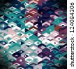 Abstract Ethnic Geometric Pattern - background - stock photo