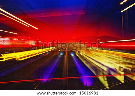 abstract evening lights - stock photo