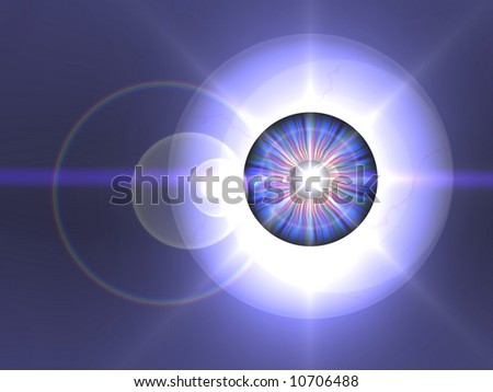 Abstract eye star - stock photo