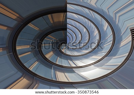 Abstract facade lines and glass reflection on modern building,abstract background