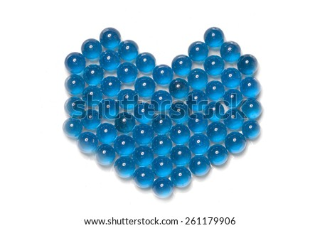 Abstract fantastic heart of colored glass beads - stock photo