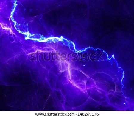 Abstract fantasy lightning - stock photo