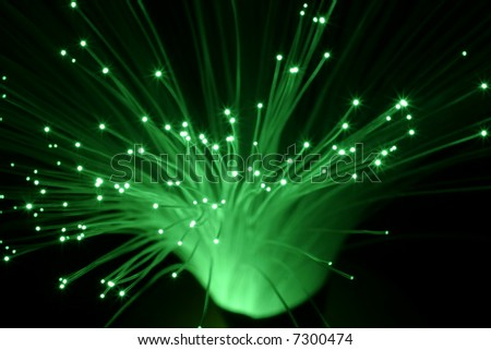 abstract fiber optic cable photo - stock photo