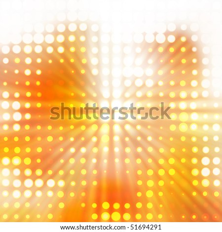 Abstract fiery drawing - stock photo