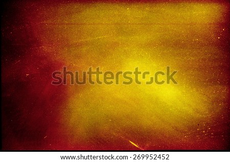 Abstract film texture background with heavy grain, dust and light leak - stock photo