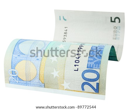 Abstract financial idea. Recession(expansion) in European economy - stock photo