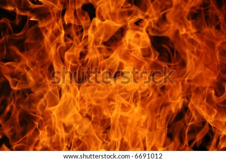 Abstract fire background - stock photo