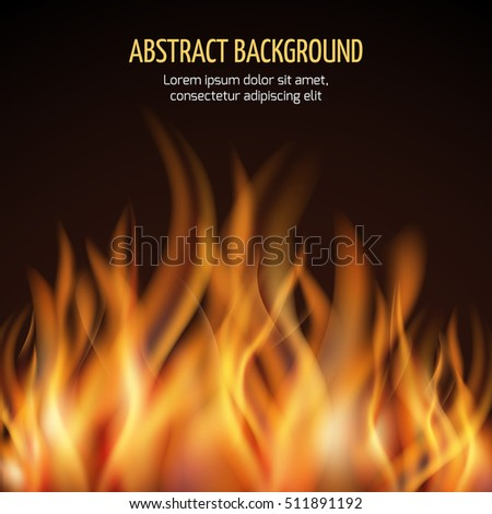 Abstract fire flame background. Fire hot blaze and power fire illustration