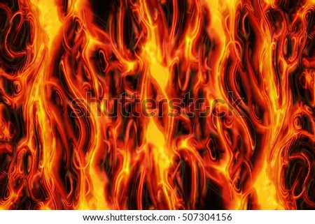 abstract fire texture generated by the computer