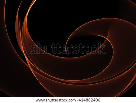 Abstract flame background over black - stock photo