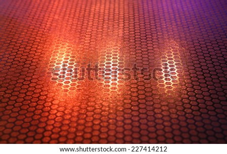 Abstract floor with colorful light focus at center - stock photo