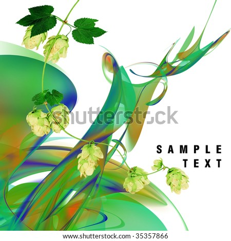 Abstract floral decoration on white background.