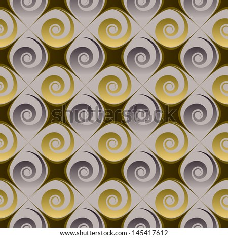 abstract floral illustration . Raster copy of vector file - stock photo