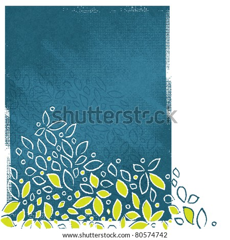 abstract floral motive background, artistic painterly style, grunge - raster version - stock photo