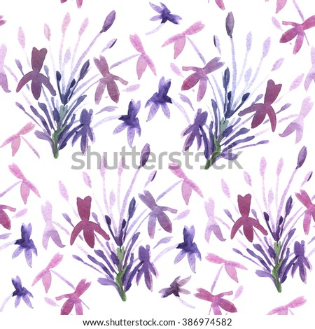 Abstract Floral Watercolor Hand Painted Background. Serenity Tint Watercolour Texture. Pastel Colored Palette. - stock photo