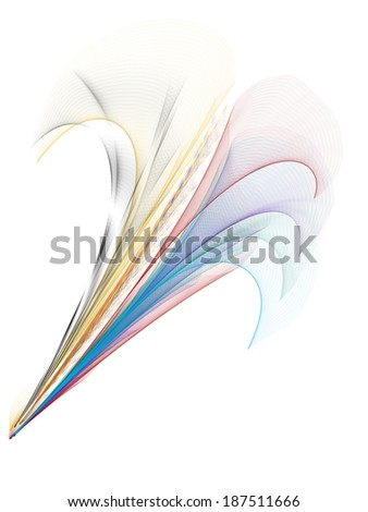 abstract flower - stock photo