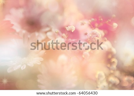 abstract flower background. flowers made with color filters - stock photo