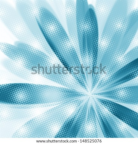 Abstract flower.Fractal illustration. - stock photo