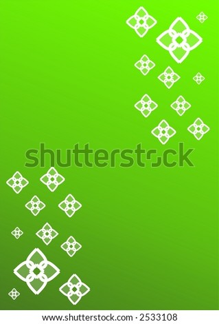 Abstract flower - green background