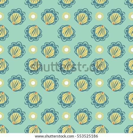 Abstract flower seamless pattern background.  texture Floral seamless backgrounds.