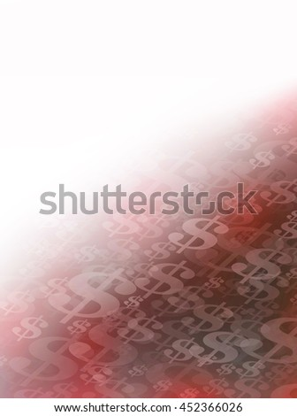 Abstract Flowing or Moving Red and Black Dollar Signs Background could symbolize financial problems. Perfect for all Financial Communications.  - stock photo