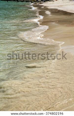 abstract foam in the beach   thailand kho tao bay coastline   and south china sea - stock photo