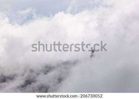 Abstract fog - stock photo