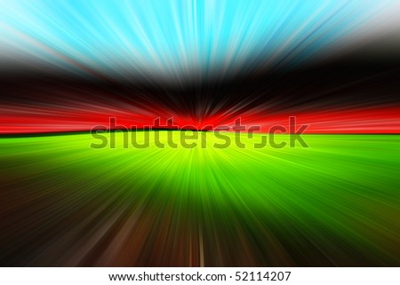 Abstract football stadium - stock photo