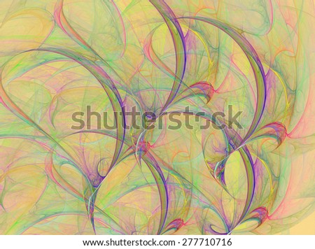 Abstract fractal abstract background with a seamless repeat pattern - stock photo