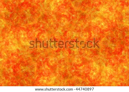 Abstract fractal background: autumnal maple leaves (SOFT FOCUSED) - stock photo
