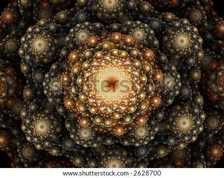 Abstract fractal background. Computer generated graphics. Fantastic floral pattern.
