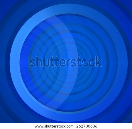 Abstract fractal background in blue color with a detailed pattern of large interconnected rings - stock photo