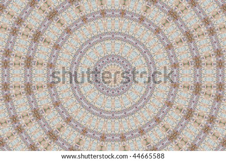 Abstract fractal background (made from different banknotes - International Finance) - stock photo