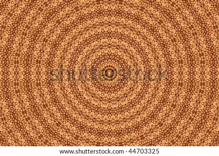Abstract fractal background: magic of walnuts - stock photo