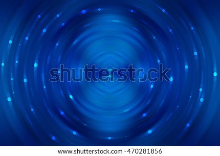 Abstract fractal blue background with crossing circles and ovals. disco lights background. illustration technology.