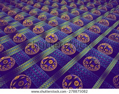 Abstract fractal design. Seamless Background Fractal. - stock photo