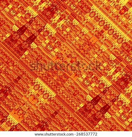 Abstract Fractal Grunge. Art Background. Old Style Effect. Psychedelic Paper Texture. Artistic Design Element. Ornate Pattern. Decorative Illustration. Brown Fantasy Parchment. Creative Image. - stock photo
