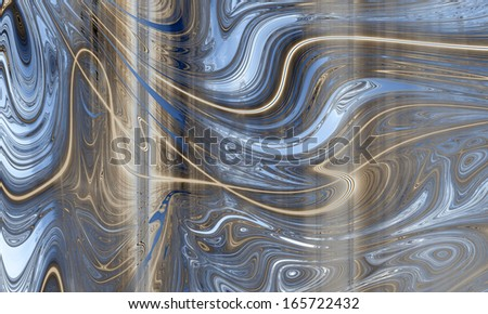 Abstract fractal high resolution light blue and bronze background with a detailed abstract pattern/texture on it consisting of various abstract shining lines, circles, waves and shapes. - stock photo