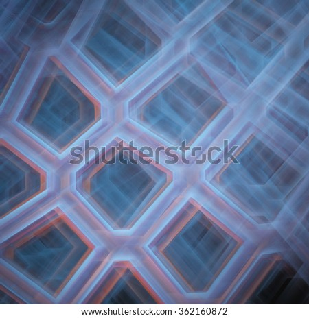 abstract fractal image. computer generated pattern composed of cells
