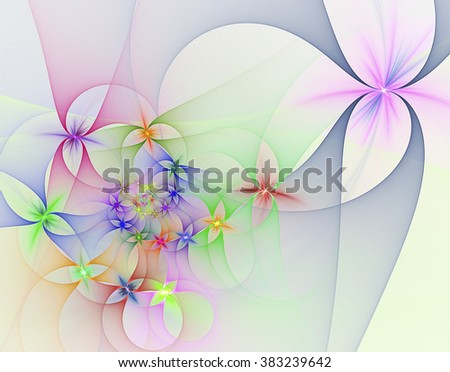 Abstract fractal image on the white background - stock photo
