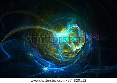 Abstract fractal lighting background