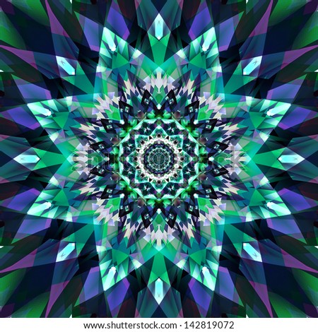 abstract fractal ornamental background - stock photo