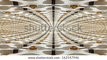 Abstract fractal patten of decorative wall.  - stock photo