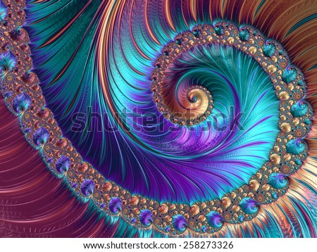 Abstract fractal patterns and shapes. Fractal texture. For Puzzle or Tie prints or other prints. - stock photo